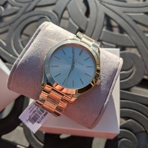 NWT Authentic Michael Kors Gold Runway Watch